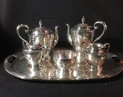 Casa Prieto Custom Made 6-piece Sterling Silver coffee/tea service 1950