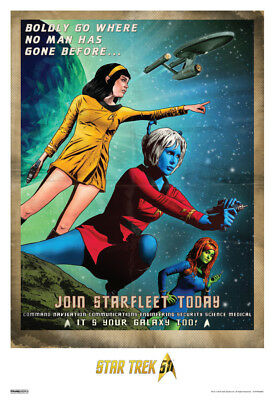 Star Trek Join Starfleet Today 50th Anniversary TV Show Poster 13x19