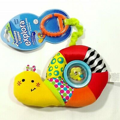 Baby Kid Child Tommee Tippee Attachable Rattle Snail Soft Stuffed Rag Toy Doll
