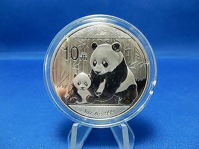 2011 China Panda Unc One Ounce Silver Coin Cad 28 47