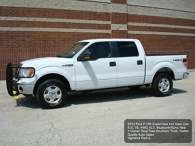 2012 Ford F-150 SuperCrew 4x4 2012 FORD F-150 4X4 CREW CAB F150 4WD 5.0L V8 RUST FREE 1 OWNER XLT BLUETOOTH