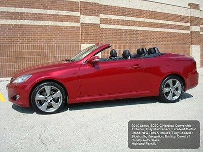 2010 Lexus IS Convertible IS250C 2010 LEXUS IS250C IS 250C CONVERTIBLE 1 OWNER BACKUP CAM NAVIGATION COOLED SEATS