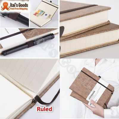 Thick Classic Writing Notebook/Journal - Eco-Friendly Natural Cork Hardcover Exe