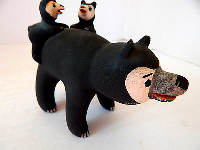 Cochiti Pueblo Indian Pottery Bear And Cubs By Dorothy Herrera .