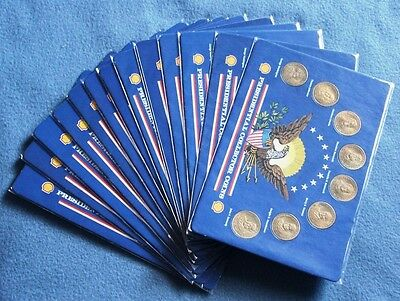 Shell Bronze Presidential Collector Coins 13 sets JFK FDR Lincoln IKE GW TJ more