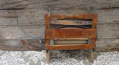 Antique Anchor Brand Clothes Laundry Wringer shabby Premitive Decor.770