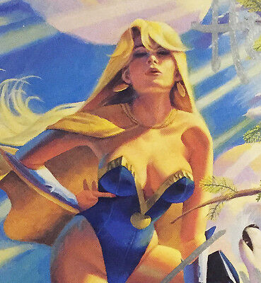 Flaxen #1 Signed Playboy Playmate Susie Owens 1992 Exclusive Golden Apple