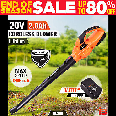 NEW Black Eagle 20V Lithium Cordless Leaf Blower Tool Electric Battery Garden