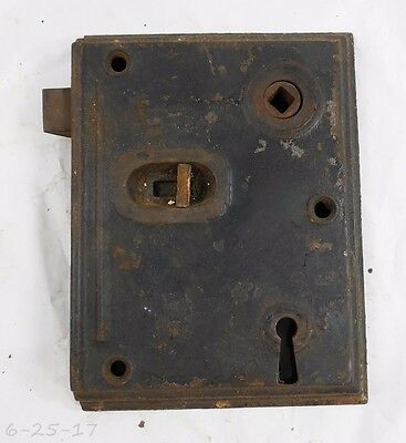 Large Antique Cast Iron Surface Rim Lock