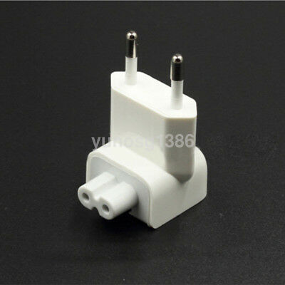 EU 2 Pin AC Power Travel Wall Plug Duckhead Adapter Charger for Apple Macbook US