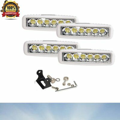 "4PCS 6"" 18W LED Work Light Bar 4WD Offroad Spot Fog ATV SUV Truck Driving Lamp"