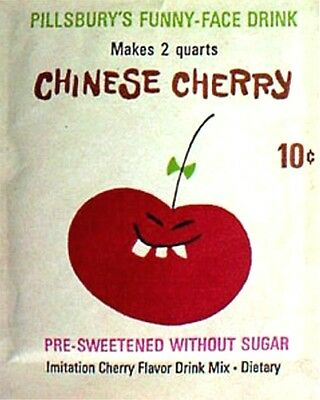 1960s Funny Face drink mix pack Chinese Cherry replica fridge magnet - new!