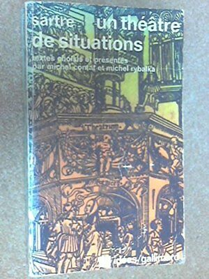 UN Theatre De Situations by Sartre Book Book The Cheap Fast Free Post