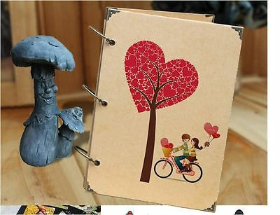 DIY 30BK Page 26.8 x 18.7cm Kraft Vertical Photo Album Wedding Scrapbook - LOVER