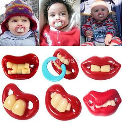 Useful Funny Teeth Mustache Baby Infant Pacifier Orthodontic Dummy Nipples LA