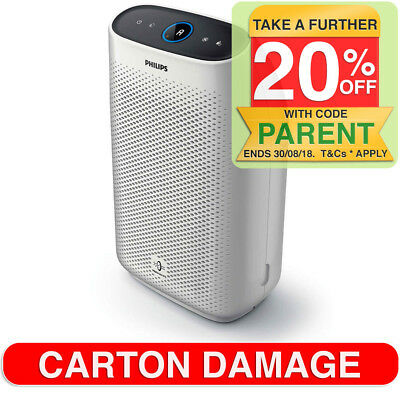 Philips AC1215 Series 1000 Air Purifier/Cleaner w/ Night Sensor for Bedroom