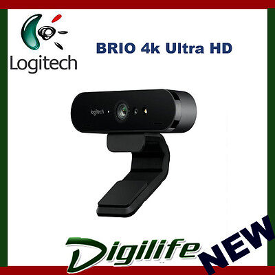Logitech BRIO 4k Ultra HD USB-C Webcam with Rightlight 3 HDR