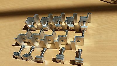 solar mounting clamp, end clamp,middle clamp $15/5sets include bolt&nut