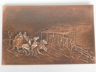 RAISED COPPER - WELLS FARGO / COBB & CO Stagecoach - by DAGAN - 385 X 250