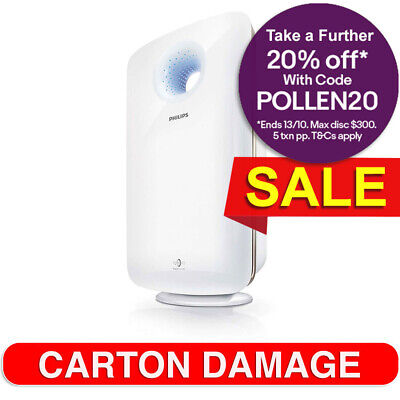 Philips AC4372 Air Cleaner/Purifier HEPA Filter/Cleaner w/ Sensor for Large Room