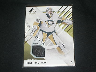 Matt Murray Penguins Legend Certified Authentic Hockey Game Used Jersey Card