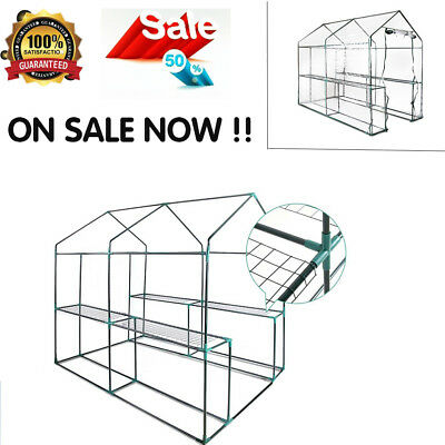 Easy Installation Walk In GREENHOUSE Garden 4 Shelf Protect Plant Seed Flower AU