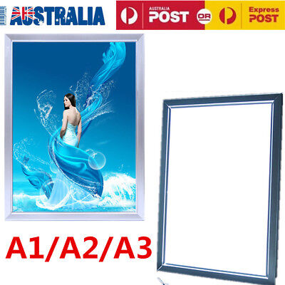 A1 A2 A3 LED Light Box Advertising Display Poster with Aluminum Snap Frame OZ
