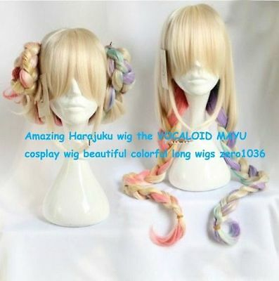 Amazing Harajuku wig the VOCALOID MAYU cosplay wig beautiful colorful long wigs