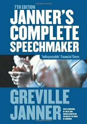 Janner's Speechmaker by Janner, Greville Paperback Book The Cheap Fast Free Post