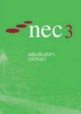 Nec3 Adjudicator's Contract by NEC Paperback Book The Cheap Fast Free Post