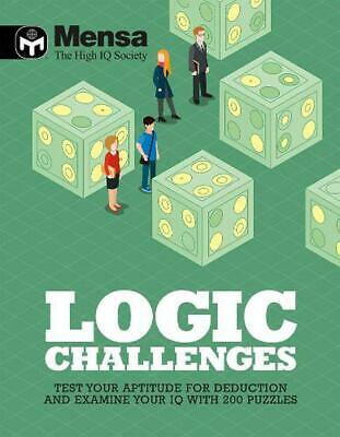 Mensa: Logic Challenges by Mensa Paperback Book Free Shipping!
