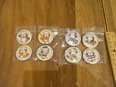 Tiger and Bunny The Rising X RASCAL the Raccoon badge set of 8