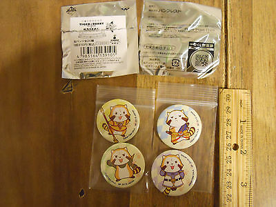 Tiger and Bunny The Rising X RASCAL the Raccoon badge set of 4