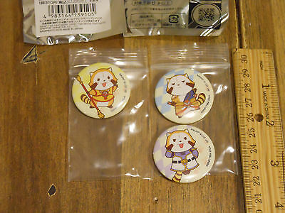 Tiger and Bunny The Rising X RASCAL the Raccoon badge set of 3