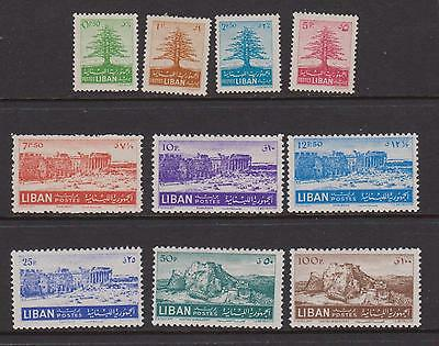LEBANON 1952 postage set mint