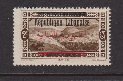 LEBANON 1928 2p sepia with black & red opt mint