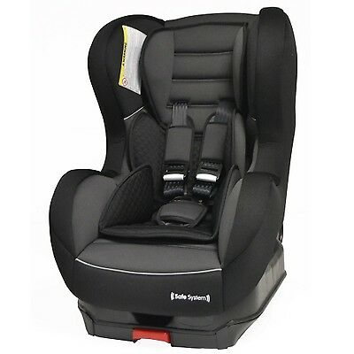 Nania Safe System Isofix Group 1 9m to 4 yrs Reclining Car Seat Shadow Black