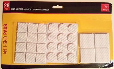 New 28 Pcs White Rubber Anti Skid Pads Non Slip Furniture Pads Self Adhesive