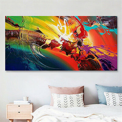 24x48'' Abstract Ripple Canvas Print Oil Painting Wall Art Picture Home Decor