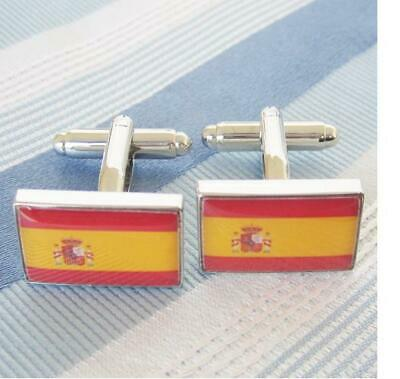 Cuff links Spain Flag Spain Flag,Cufflinks 1 Pair Gift Box,New