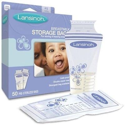 Lansinoh Breastmilk Storage Bags (Pack Of 25) New Fast Shipping