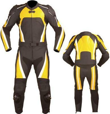 Suzuki Yellow and Black Motorcycle Leather Suit (Custom Sized)