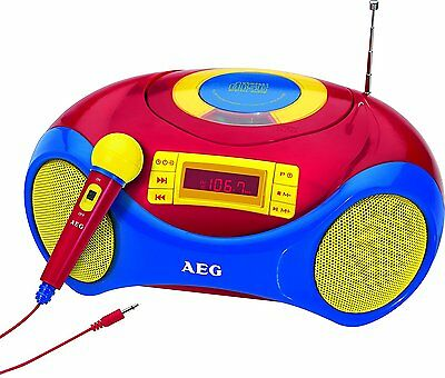 AEG SR 4363 Stereo Radio USB CD/MP3-Player Mikrofon Senderspeicher Anlage Kinder
