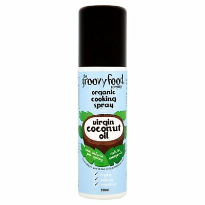 The Groovy Food Co Virgin Coconut Oil Organic Cooking Spray 190ml = One Calorie