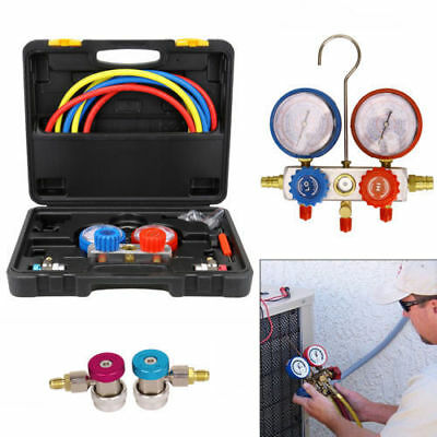 Air Conditioning AC Diagnostic A/C Manifold Gauge Tool Refrigeration R-134A UK