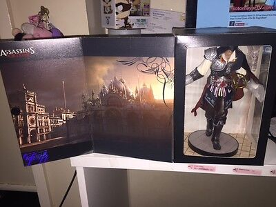 PS3 Assassin Creed 2 Black Collector Edition complete with game & statue NEW