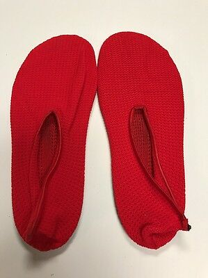 Vintage Moon Boot Indoor Outdoor Slipper Red Nylon