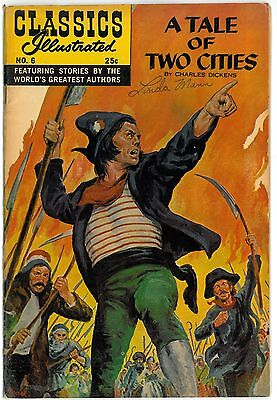 Classics Illustrated #6 A TALE OF TWO CITIES HRN 166 Charles Dickens