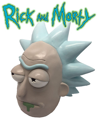Rick and Morty Cosplay Adult Latex Masks Full Head Face Halloween Party Mask NEW