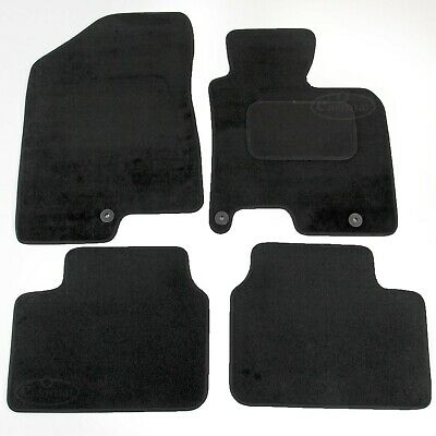 Hyundai i30 2012 onwards Tailored Carpet Car Mats Black 4pcs Floor Set
